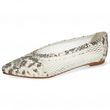 Ballerina's Alexa 33 Snake Ivory Big Net White
