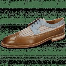 Derby schoenen Logan 6  Venice Nougat Suede Mady Beige Vegas Moroccan Blue
