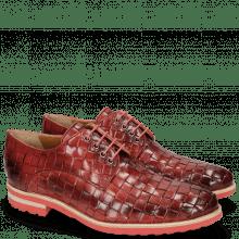 Derby schoenen Brad 7 Woven Ruby Lining Rich Tan
