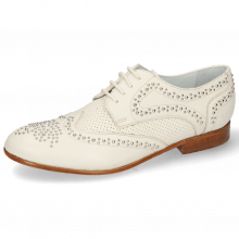 Derby schoenen Sandy 1 Nappa Glove Perfo Ivory