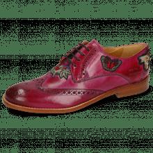 Derby schoenen Amelie 46 Dark Pink Embroidery