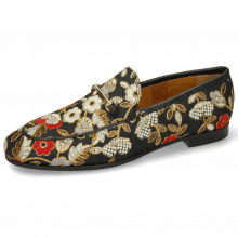 Loafers Scarlett 1 Brocade Nero Trim Gold