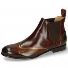 Enkellaarzen Sally 19 Mid Brown Nappa Aztek Bronze Chestnut