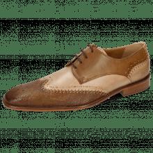 Derby schoenen Clark 1 Venice Phython Nougat Powder Nougat