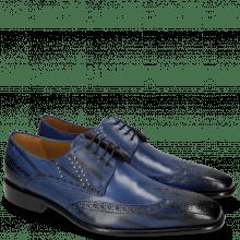 Derby schoenen Albert 2 Saphir Rivets Lines Navy