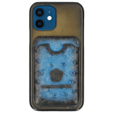 iPhone hoesje Twelve Vegas Olive Wallet Mid Blue