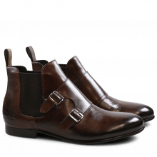 Enkellaarzen Sally 27 Crust Dark Brown Elastic Dark Brown HRS