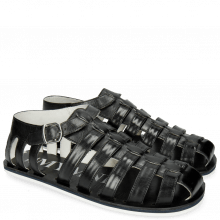 Sandalen Sam 3 Black Modica White