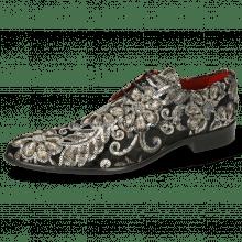 Derby schoenen Toni 1 Textile Zardosi Black Lining