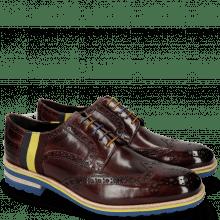 Derby schoenen Eddy 38 Burgundy Strap Multi