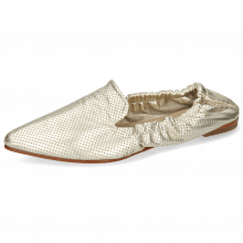 Loafers Alexa 30 Metallic Nappa Perfo Platin