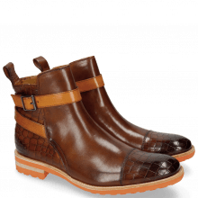 Enkellaarzen Eddy 9 Crock Wood Strap Orange