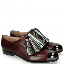 Loafers Sally 57 Venice Burgundy Tassel Metalic