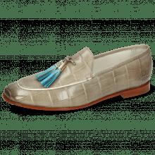 Loafers Scarlett 3 Vegas Turtle Light Grey Tassel Turquoise