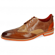 Derby schoenen Dave 2 Imola Wood Perfo Sand Arancio