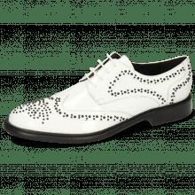 Derby schoenen Sally 53 Patent White Rivets