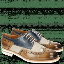 Derby schoenen Johnny 1 Tex Funky Visone 60 Moroccan Blue