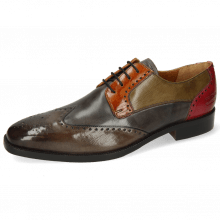 Derby schoenen Jeff 14 Dark Brown Grigio Winter Orange Light Grey Pink