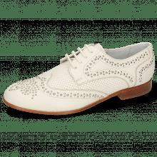 Derby schoenen Sandy 1 Nappa Ivory Perfo