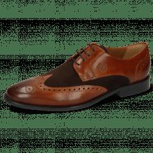Derby schoenen Victor 2 Rio Mid Brown Suede Pattini Dark Brown