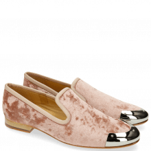 Loafers Claire 6 Velvet Rose Toe Cap