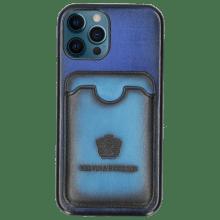 iPhone hoesje Twelve Pro Vegas Electric Blue Wallet Ostrich Blue