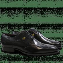 Derby schoenen Woody 6 Black Embrodery Bee Strap Suede Black