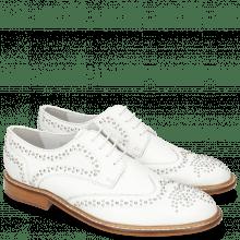 Derby schoenen Sandy 1 Milled White Rivets