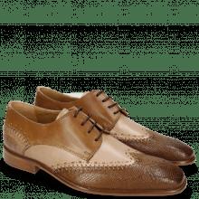 Derby schoenen Clark 1 Python Nougat Powder
