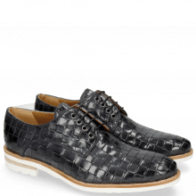 Derby schoenen Brad 7 Woven Navy Lining Rich Tan