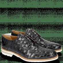 Derby schoenen Brad 7 Woven Navy Lining Rich Tan