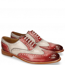 Oxford schoenen Scott 12 Red Washed Black