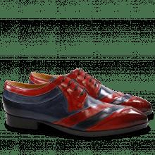 Derby schoenen Ricky 8 Crust Red Navy LS Natural