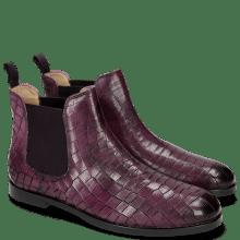 Enkellaarzen Susan 10 Crock Eggplant Elastic Purple