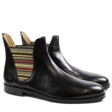 Enkellaarzen Susan 2 Paston Black Elastic Multi HRS