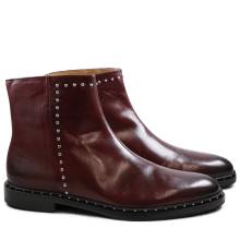 Enkellaarzen Susan 47 Burgundy Rivets Nickel HRS