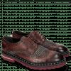Derby schoenen Matthew 4 Big Croco Plum Textile Retro