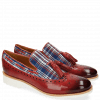 Loafers Amelie 60 Textile Check Rich Red