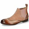 Enkellaarzen Sally 19 Rose Nappa Aztek Bronze Sheep Suede Old