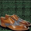 Derby schoenen Martin 15  Berlin Tan Perfo Navy Lining Textile