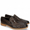 Loafers Eddy 44 Haring Bone Weave Dark Brown Lining Nappa