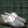 Derby schoenen Jessy 38 Moroccan Blue Denim Metal Silver