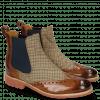 Enkellaarzen Amelie 5 Wood Textile English Elastic Navy