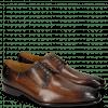 Derby schoenen Albert 1 Wood Rivets Lines Dark Brown