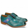 Derby schoenen Eddy 25R Perfo Turquoise Embrodery