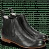 Enkellaarzen Sally 129 Nappa Glove Perfo Black