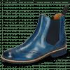 Enkellaarzen Selina 6 Mid Blue Elastic Navy