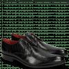 Derby schoenen Toni 1 Lizzard Black Lining Red