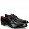 Derby schoenen Toni 1 Lizzard Black Lining Red
