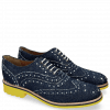 Oxford schoenen Amelie 10 Denim Blue Underlay White